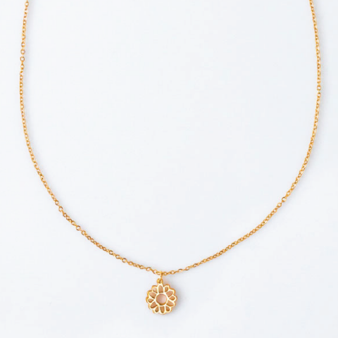 ASTER SEPTEMBER BIRTHFLOWER NECKLACE