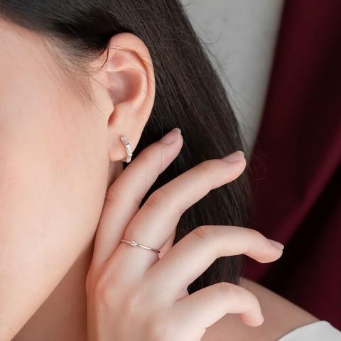 MARQUIS HOOP EARRINGS
