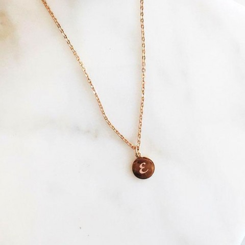 18K GOLD - CIRCLE NECKLACE