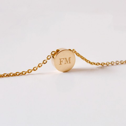 18K GOLD - 3D CIRCLE NECKLACE