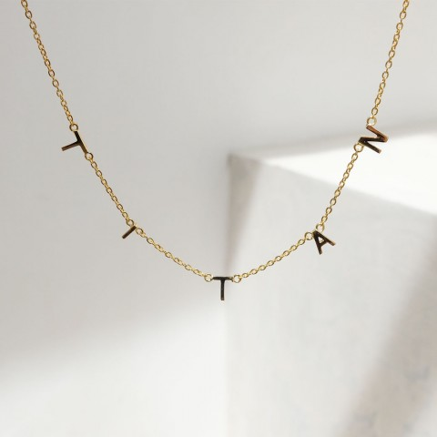 18K GOLD - INITIALINK NECKLACE