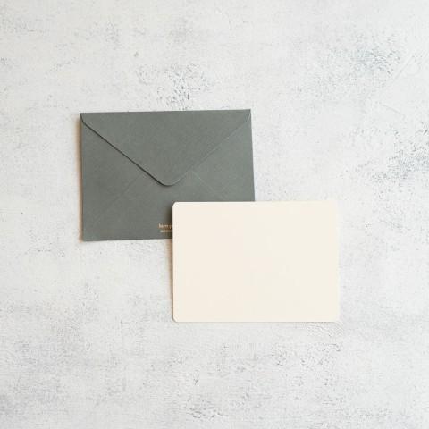GREY GREETING CARD A6