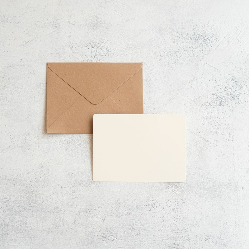 KRAFT PAPER GREETING CARD A6