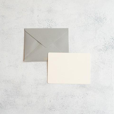LIGHT GREY GREETING CARD A6
