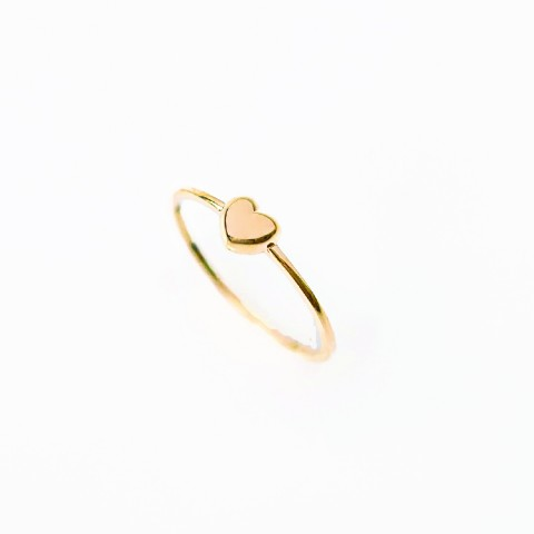 9K GOLD - LADY HEART RING