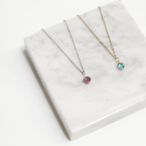 SWAROVSKI CRYSTAL BIRHSTONE NECKLACE